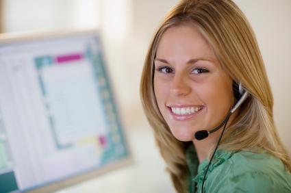 Smiling customer service
